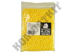 1000 x 6mm x 12g Yellow Polished Airsoft BB Gun Pellets in Bag